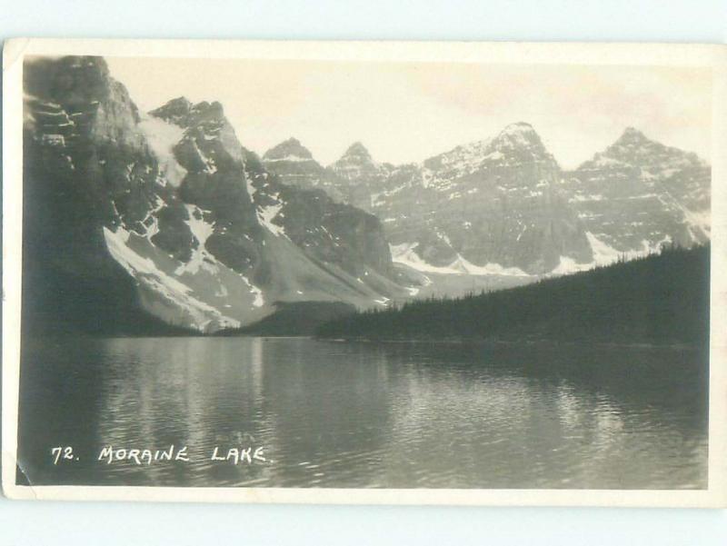1920's rppc NICE VIEW Moraine Lake - Banff National Park Alberta AB W0908