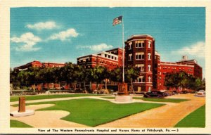 Pennsylvania Pittsburgh View Of The Western Pennsylvania Hospital and Nurses ...