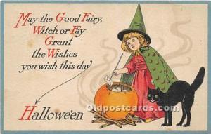 Halloween Postcard Old Vintage Post Card Halloween Series 27 Artist Ellen Cla...