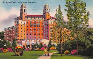 Arlington Hotel, Hot Springs, Arkansas, Early Linen Postcard, Unused