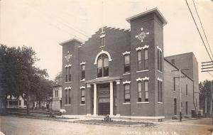 Clarinda IA NG Armory (Burned Down, 1911) Church? Next Door RPPC c1914