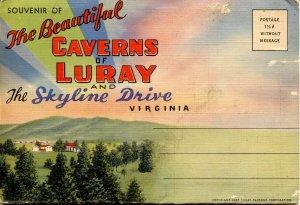 Folder -   Virginia,  Luray Caverns & Skyline Drive  18 views  (damaged)