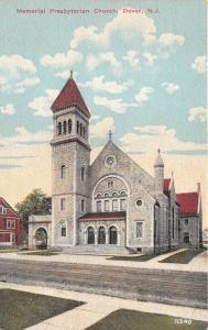 Dover New Jersey~Memorial Presbyterian Church~House Next Door~c1910 Postcard