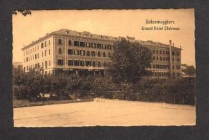 ITALY View Grand Hotel Thermes SALSOMAGGIORE Postcard Carte Postale Tennis Court