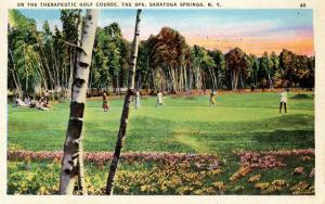 NY - Saratoga Springs. Golf Course at the Spa