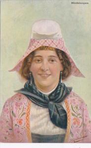 Netherlands Dordrecht Hindeloopen Local Woman In Traditional Dress