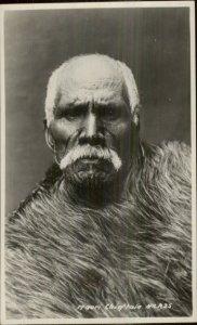 Ethnic Maori Chief New Zealand Face Tattoos Real Photo Card G19