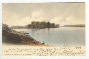 sland Park From Down The Maumee River,Defiance,OH,1906