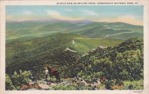 Virginia 25 Mile View On Skyline Drive Shenandoah National Park Curteich