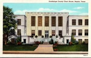 Texas Sequin Guadalupe County Court House Curteich