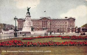 Buckingham Palace & Victoria Memorial, London, 1950 Postcard, Unused
