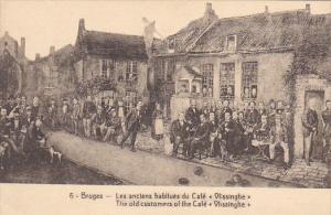 Belgium Brugge Les anciens habitues du Cafe Vlissinghe