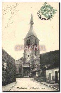 Old Postcard Vendeuvre L & # 39Eglise Saint Pierre