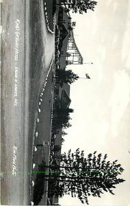 RPPC of King's Gateway Hotel and Ski Jump Land o' Lakes Wisconsin WN