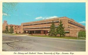 Coe Library and Students' Union University of Wyoming Laramie Vintage Postcard