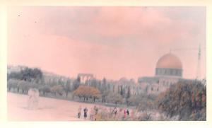 Jordan Old Vintage Antique Post Card Dome of the Rock Jerusalem Non Postcard ...