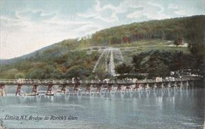 New York Elmira Bridge To Rorick's Glen 1905