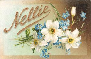 9605 Tuck's no. 131 Nellie , Flowers  Narcissi and Forget-me-nots