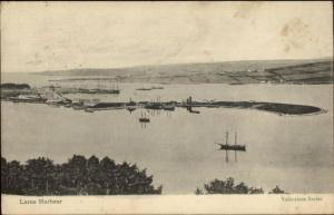 Larne Ireland Ships in Harbor c1910 Postcard