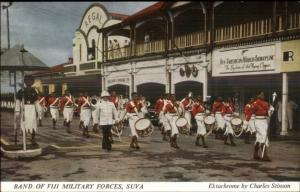 Suva Fiji Military Band Parade Postcard