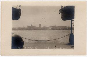 1917 San Francisco CA City Loved Round the World Ferry Tower Real Photo Postcard