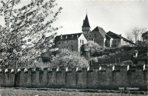 Switzerland Colombier photo postcard