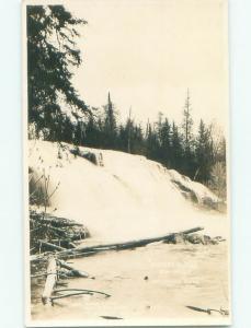 Pre-1926 rppc NICE VIEW Ontonagon River - Near Houghton & L'Anse MI i9091