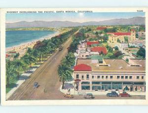 Unused Linen STREET SCENE Santa Monica - Los Angeles California CA W1368