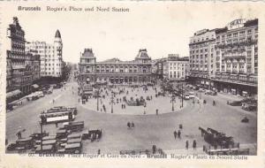 Belgium Brussels Place Rogier et Gare du Nord