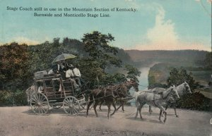 Stagecoach , Kentucky, PU-1909; Burnside & Monticello Stage Line