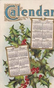 Calendar for 1910, Holly, PU-1910