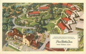 Birdseye Colorpicture Paso Robles California Inn roadside 1963 Postcard 20-3064