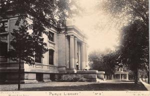 Mason City Iowa~Carnegie Library~Big Columns~Home (Replaced by School) RPPC 1910
