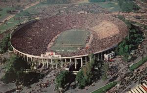 PASADENA, California ,1950-60s; Aerial View of Rose Bowl