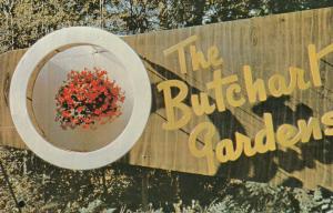 VICTORIA , B.C. , Canada , 50-60s ; Butchart Gardens Entrance Sign