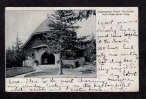ME Congregational Church Seal Harbor MAINE Postcard PC