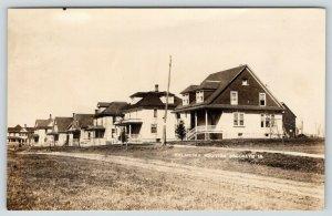 Brooklyn Iowa~Oklahoma Addition~Bungalows & American Square Homes~c1910 RPPC