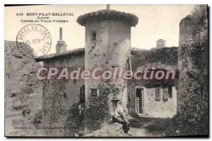 Old Postcard Mont Pilat Loire Malleval Entree du Vieux Chateau