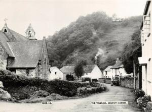 Vintage Real Photo Postcard, c1955 The Village, Milton Combe, Devon 30V
