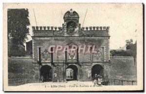 Postcard Old Lille Roubaix Door And Ghent