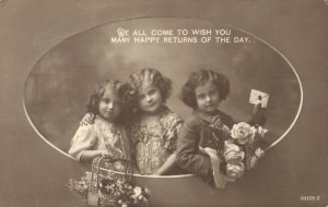 Vintage Cute and Beautiful Kids with Flowers and more Postcard Lot of 8 01.13