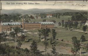 Dalton MA East Side Showing Mill c1910 Postcard