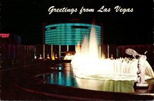 Nevada Las Vegas Greetings Showing Caesars Palace At Night