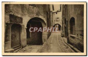 Old Postcard French Riviera Saint Paul An Antique Door