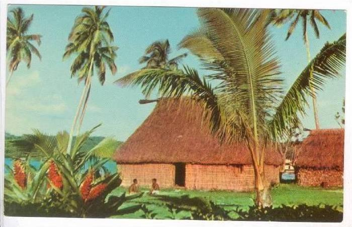 A Bure or house in Fiji, 1940-60s