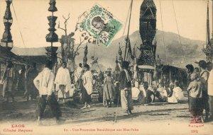 Indochine Laos Une Procession Bouddhique aux Hua Pahn 03.75