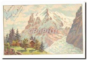 Postcard Old Mountain Fantasy