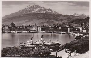Switzerland Luzern mit Pilatus 1935 Photo