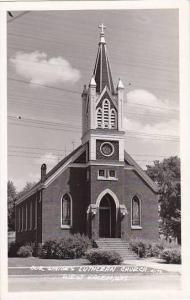 Wisconsin West Salem Our Saviours Lutheran Church Real Photo RPPC