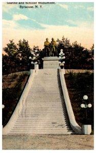 New York   Syracuse  Goethe and Schiller Monument